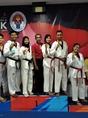 Medali Emas Taekwondo The Kick Indonesia Championship 2019