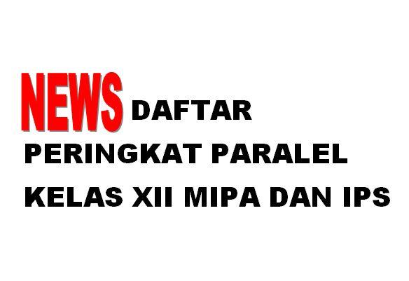DAFTAR PERINGKAT PARALEL KELAS XII MIPA DAN IPS